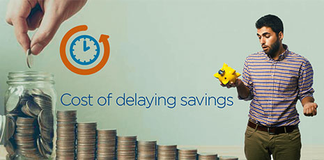 Cost of Delaying Savings in Your Life